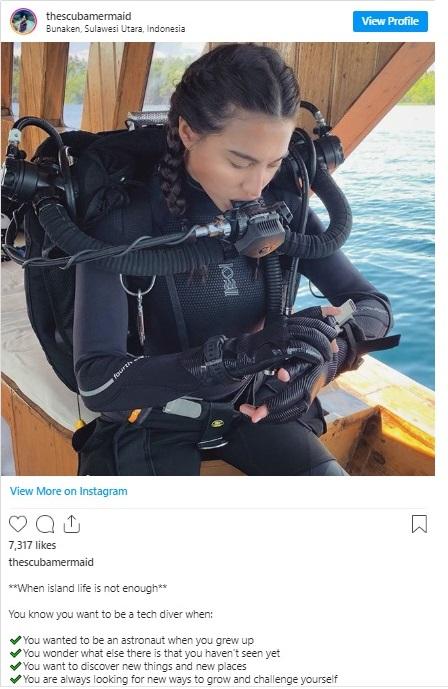 The Scuba Mermaid Instagram