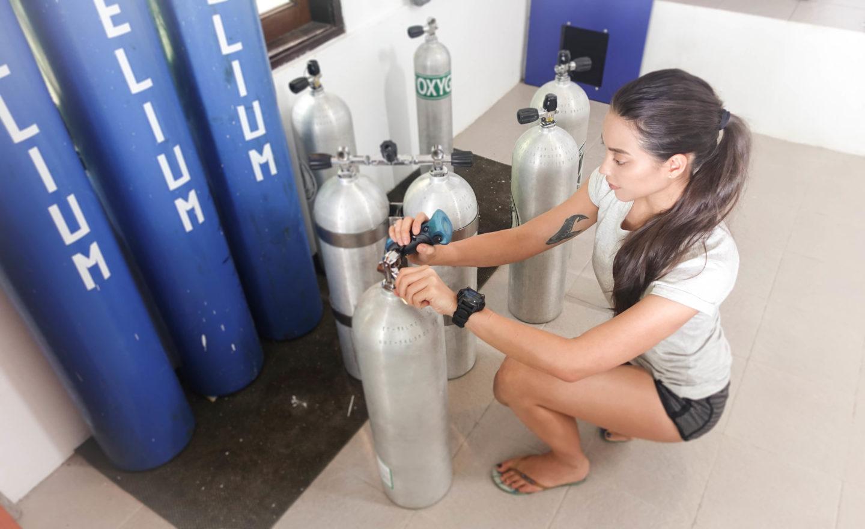 analysing an air tank